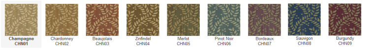 Chanterelle is available in 9 colors.