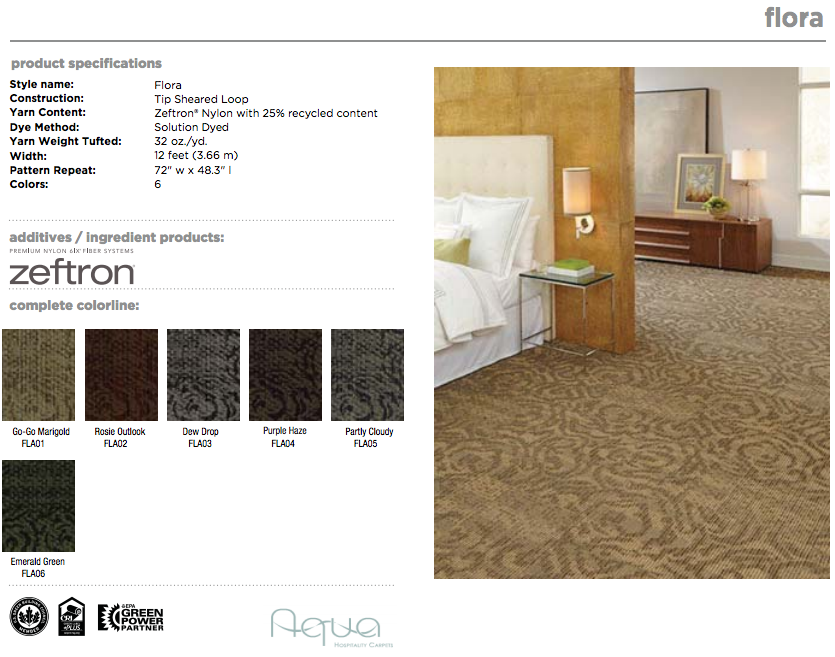 Bloom Collection Flora Made By Aqua Hospitality With Zeftron Nylon