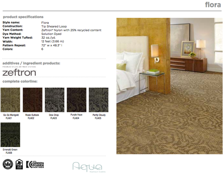 The Bloom Collection: Flora made by Aqua Hospitality with Zeftron nylon